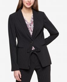 Tommy Hilfiger Pinstriped Jacket at Macys