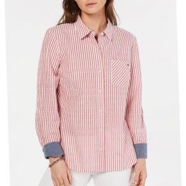 Tommy Hilfiger Striped Utility Shirt at Macys