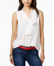 Tommy Hilfiger Tie-Neck Blouse  Only at Macy s at Macys