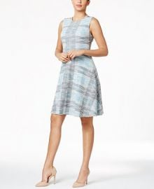 Tommy Hilfiger Tweed A-Line Dress at Macys