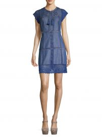 Tona Patchwork Denim Dress at Saks Fifth Avenue