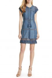 Tona Patchwork Chambray Dress at Nordstrom Rack