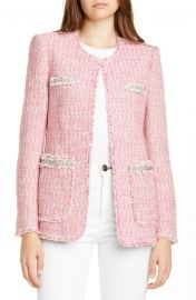Tonal Fringe Tweed Jacket by Rebecca Taylor at Nordstrom