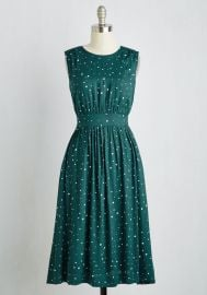 Too Much Fun Dress in Emerald Speckles - Long at ModCloth