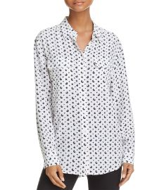Top: Signature Celestial Silk Shirt by Equipment at Bloomingdales