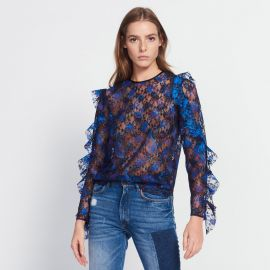 Top in Paisley Print Lace by Sandro at Sandro
