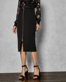 Top stitch detail pencil skirt at Ted Baker
