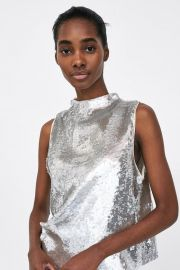 Top with Sequins by Zara at Zara