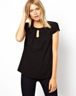 Top with dipped hem by Oasis at Asos
