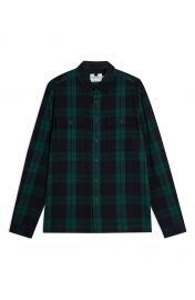 Topman Plaid Button-Up Flannel Shirt Jacket   Nordstrom at Nordstrom
