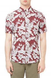Topman Floral Print Shirt at Nordstrom