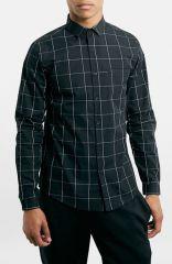 Topman Grid Check Pattern Shirt at Nordstrom