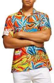 Topman Hawaiian Classic Fit Shirt at Nordstrom