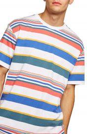 Topman Rainbow Stripe T-Shirt at Nordstrom