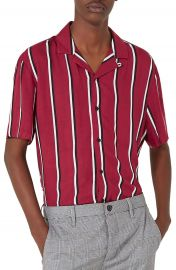Topman Stripe Revere Shirt at Nordstrom