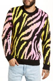 Topman Tiger Stripe Classic Fit Sweater   Nordstrom at Nordstrom
