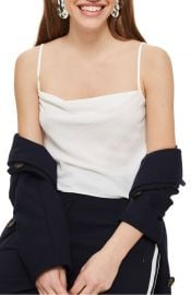 Topshop Cowl Neck Camisole in Ivory at Nordstrom