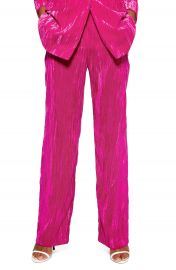Topshop Crinkled Velvet Trousers at Nordstrom