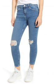 Topshop Jamie Ripped Jeans Denim Blue at Nordstrom