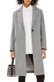 Topshop Lily Knit Back Midi Coat at Nordstrom