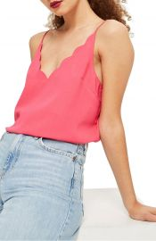 Topshop Scallop Camisole at Nordstrom