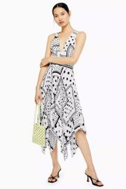Topshop Spot Print Pleated Pinafore Dress   Nordstrom at Nordstrom
