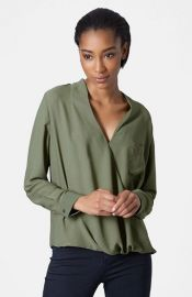 Topshop Surplice Pocket Blouse   Nordstrom at Nordstrom