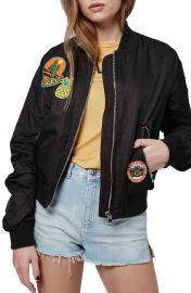 Topshop  Badged Bruce  Bomber Jacket at Nordstrom