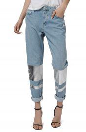 Topshop  Hayden  Silver Stripe Boyfriend Jeans  Petite at Nordstrom