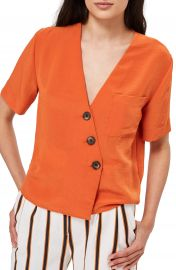 Topshop Ashley Asymmetrical Blouse at Nordstrom