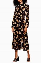 Topshop Autumn Floral Midi Dress   Nordstrom at Nordstrom