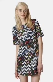 Topshop Blurred Jacquard A-Line Dress at Nordstrom