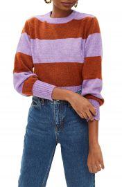 Topshop Bold Stripe Crewneck Sweater  Regular  amp  Petite    Nordstrom at Nordstrom