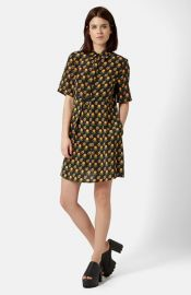 Topshop Boutique Marigold Shirtdress at Nordstrom