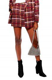 Topshop Brushed Check Miniskirt at Nordstrom