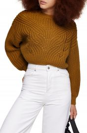 Topshop Butterfly Super Crop Sweater   Nordstrom at Nordstrom