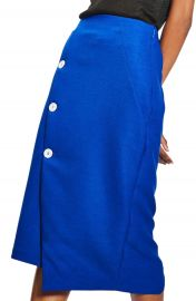 Topshop Button Midi Skirt at Nordstrom