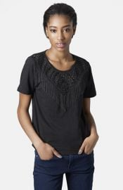 Topshop Chain Fringe Tee at Nordstrom