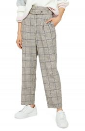 Topshop Check Print Crop Trousers   Nordstrom at Nordstrom