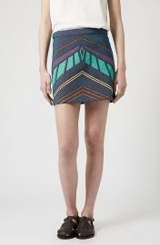 Topshop Chevron Print A-Line Skirt at Nordstrom