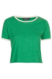 Topshop Contrast Tee in Green at Nordstrom