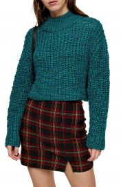 Topshop Crop Boucl   Sweater   Nordstrom at Nordstrom