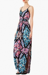 Topshop Cutabout Floral Maxi Dress at Nordstrom