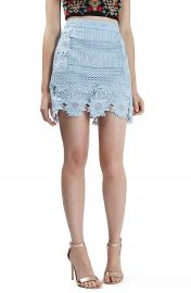 Topshop Cutwork Flower Lace Miniskirt  Regular   Petite at Nordstrom