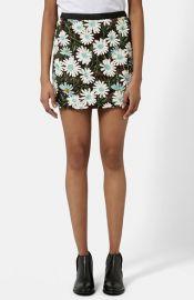 Topshop Daisy Sequin Miniskirt at Nordstrom