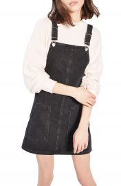 Topshop Denim Pinafore Dress  Regular   Petite at Nordstrom