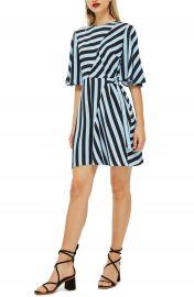 Topshop Diagonal Stripe Minidress at Nordstrom