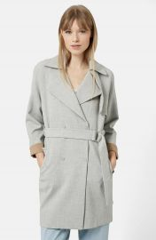 Topshop Double Breasted Trench Coat   Nordstrom at Nordstrom