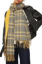 Topshop Double Face Plaid Scarf at Nordstrom