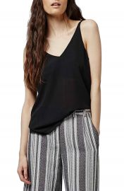 Topshop Double Strap V-Back Camisole  Regular   Petite at Nordstrom